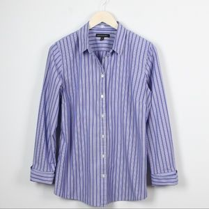 Banana Republic Blue Striped Tailored Shirt